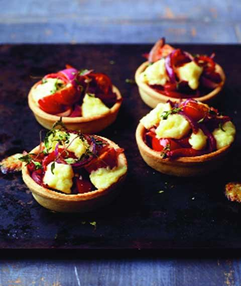 Valentine's Day recipe: Crumbly Lancashire, Red Onion And Pepper Tarts